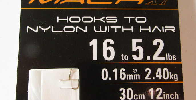 Shakespeare Mach XT Barbless Hooks to nylon with Hair size 16