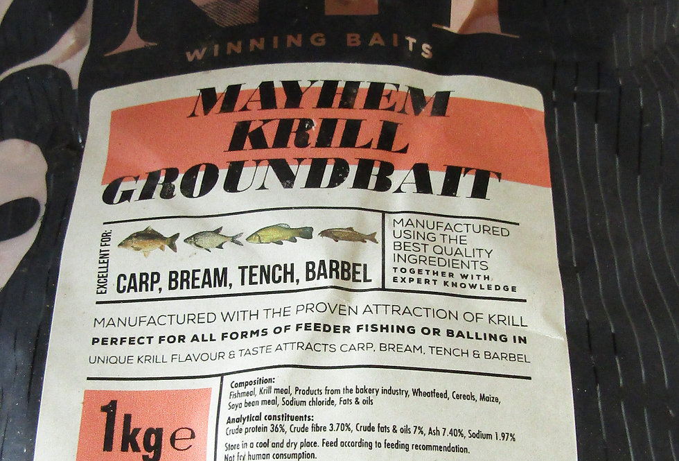 Peg No.1 Mayhem Krill Groundbait 1kg