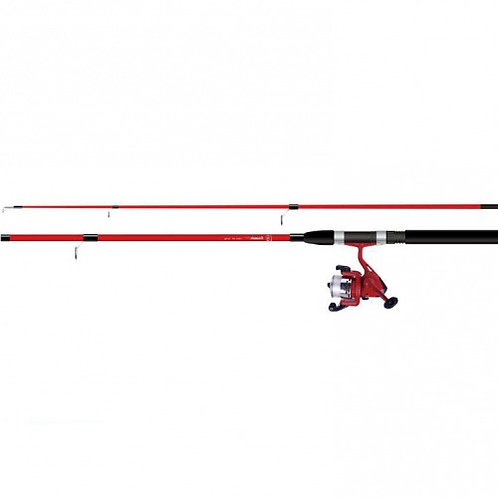 matching red cosmic rod and reel kit