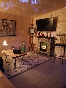 Cozy place for a snuggle & a movie