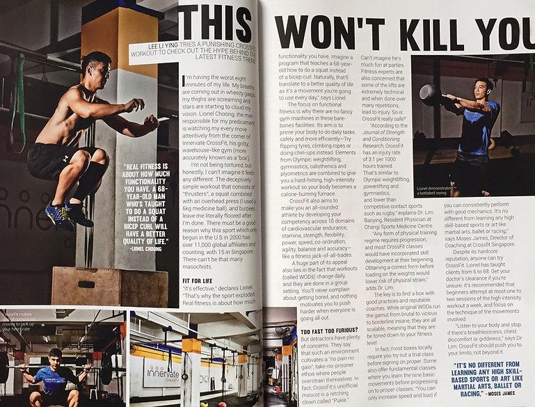 Innervate CrossFit Media Singapore