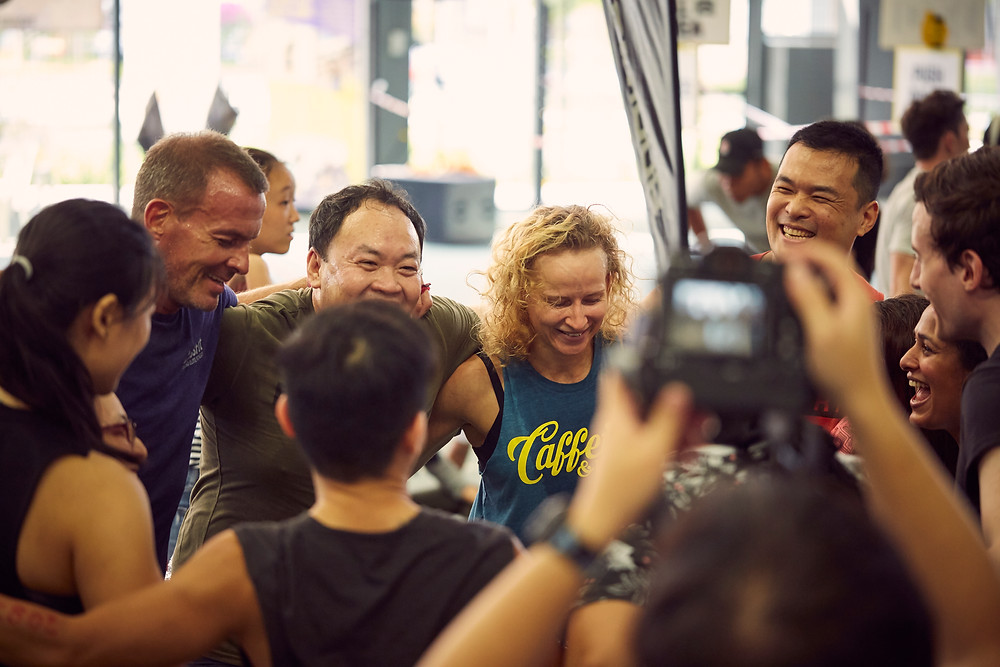 The CrossFit Singapore Community coming together for the good of society!
