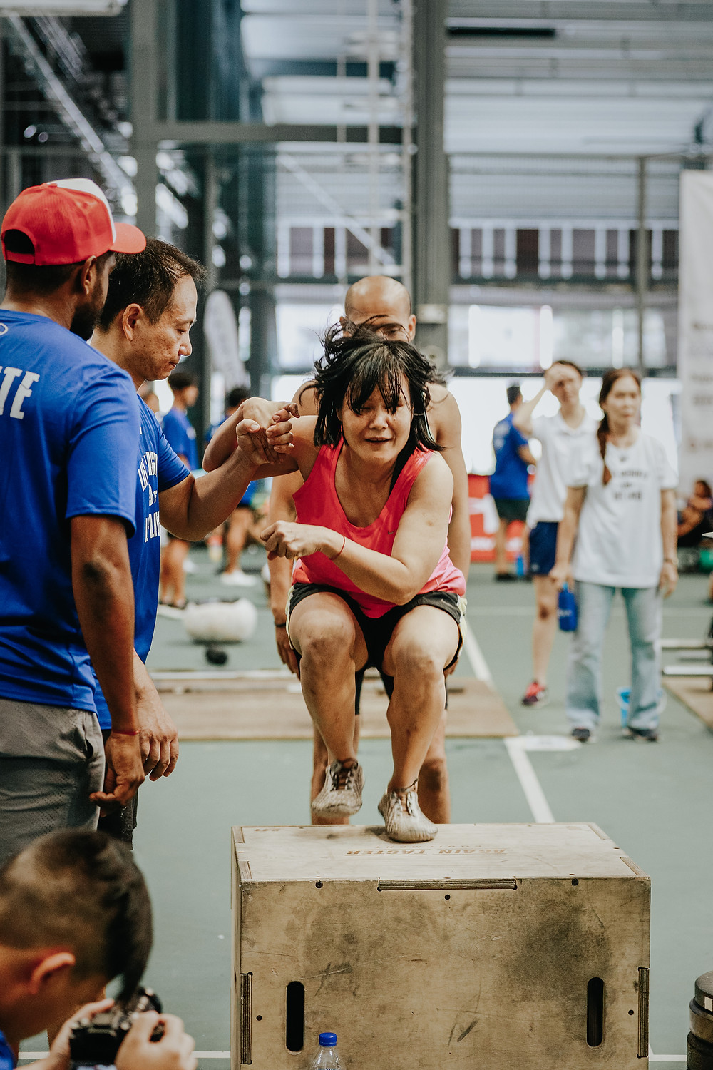 Innervate CrossFit Singapore Adaptive Athlete performing a Box Jump