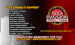 Soca Passion Production