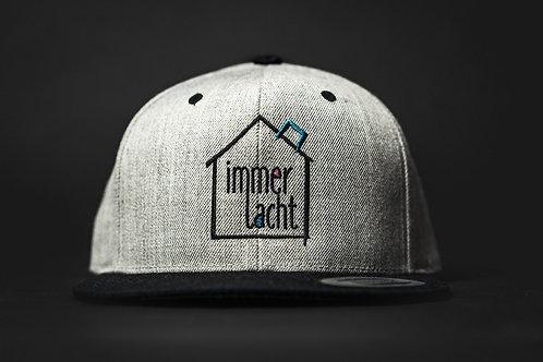 Cap grau mit schwarzem Logo