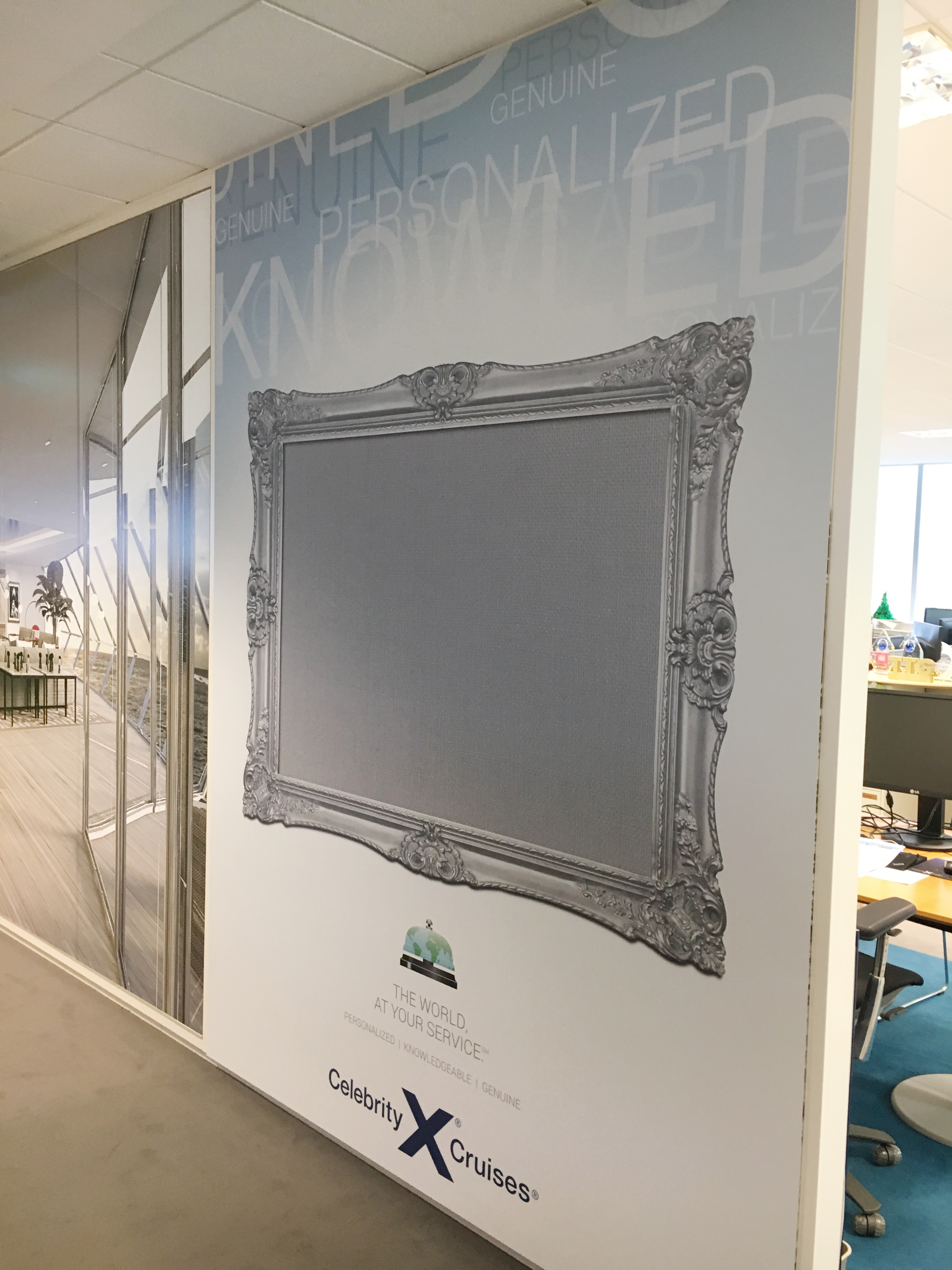 Celebrity Cruises New Wall Graphic