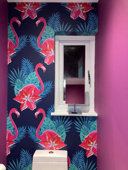 Toilet feature wall
