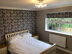 Bedroom blind & wall