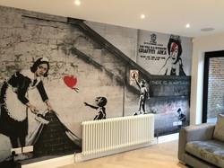 Banksy mural wallpaper