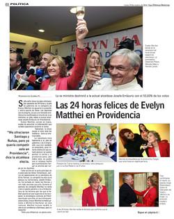 Eva Tangol asesora a Evelyn Matthei