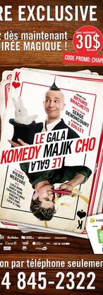 Affiche du spectacle Comedy Majik Cho avec Arthuro Brachetti (Montréal))