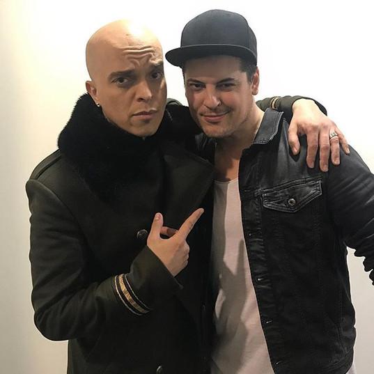 Avec l'ami Rachid Badouri pour Le plus grand Cabaret du monde