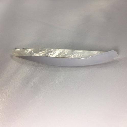 Longue barette torsadé blanche