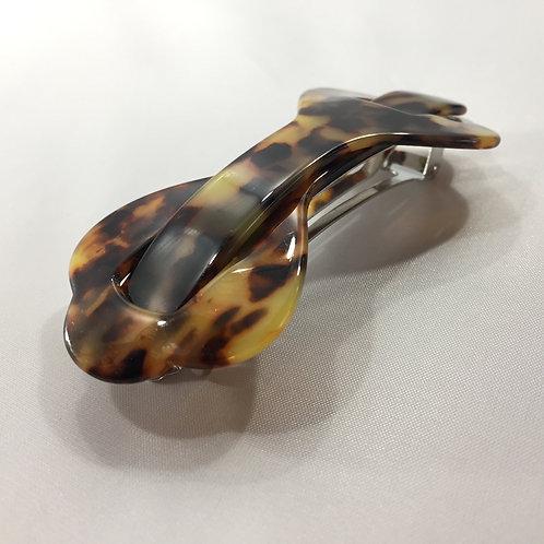 Barette vintage impression leopard