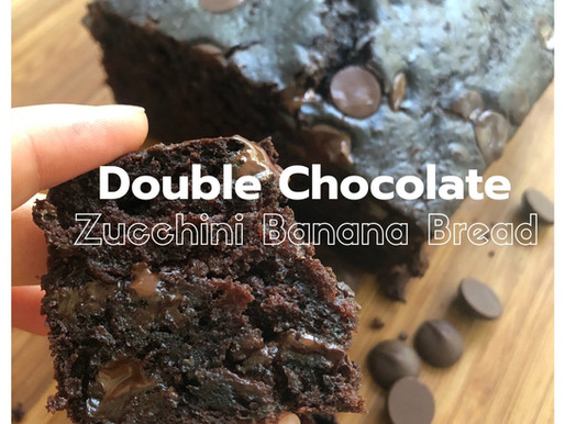 Double Chocolate Zucchini Banana Bread, your kids will love!