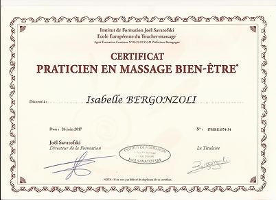 certificat praticien en massage bien-être