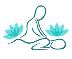 Dessin massage bien-être