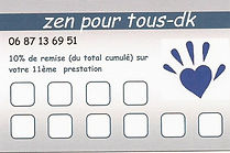 Carte fidélité massage dunkerque