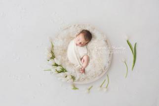 Séance photo nouveau né au Havre avec bébé Elsa