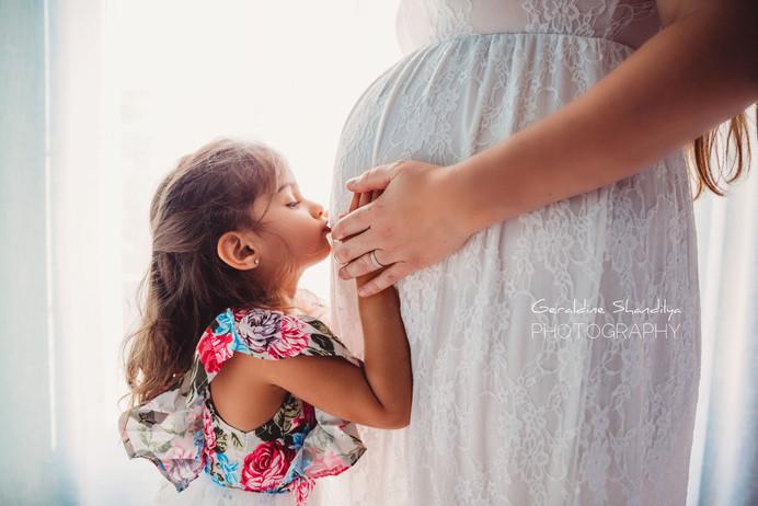 Seance photo maternité à domicile à Rouen