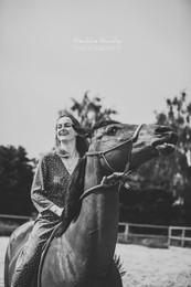 Séance photo en pension pour chevaux