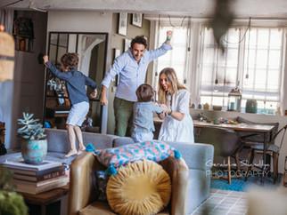 Photographie en famille avec Roman, Georges et leurs parents, Rouen