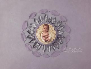 Séance photo nouveau né avec la petite Mathilde