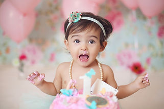 Baby photography Rouen cake smash