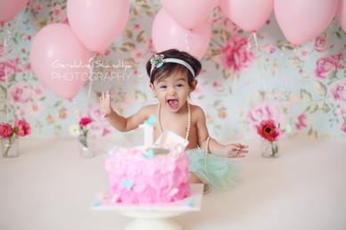 Photographe bébé cake smash Rouen