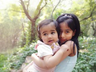 Photographie enfant avec Mairaa et Miraya