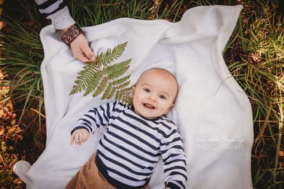Séance photo bébé en exterieur