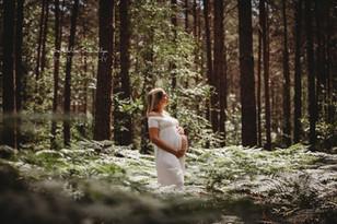 Séance photo grossesse en foret près de Rouen