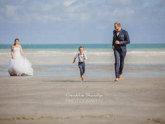 La séance photo des mariés: Marie-Laure et Kevin sur la plage de Dieppe