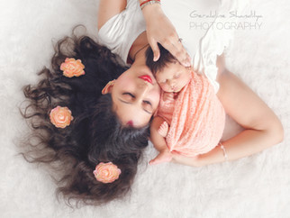 Newborn photography with Aradhya - Photographie de nouveau né avec Aradhya