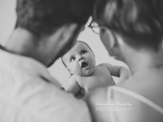 Séance photo lifestyle avec bébé Axelle - 2 mois
