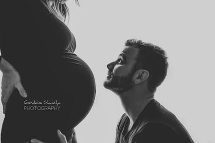 Photographie de grossesse à domicile en Normandie