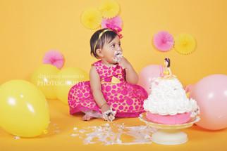 Cake smash - Varahi, 1 year old baby