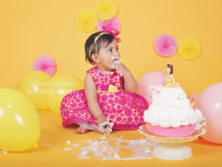 Cake smash - Varahi, 1 year old baby