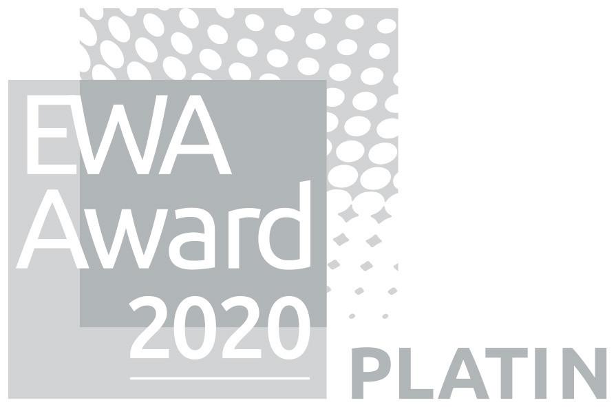 Signet für den EWA Platin Award 2020