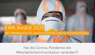 EWA Award 2020 bewertet interne Kommunikationskonzepte in der Corona-Pandemie – Ausschreibung gestar