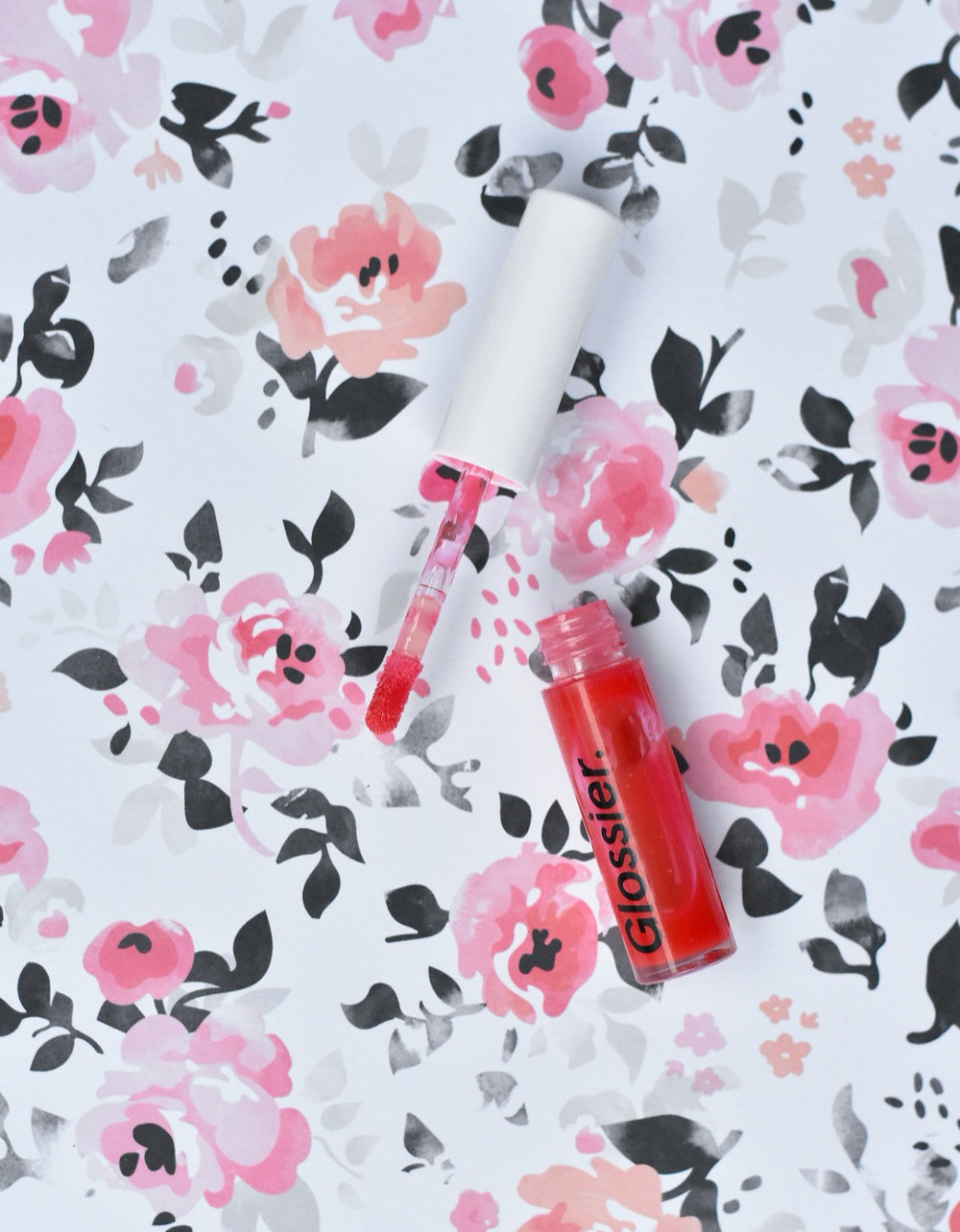 Glossier Lip Gloss in shade red