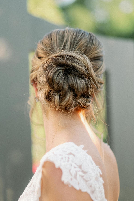 Bridal updo done by Megan Oliveri Artistry