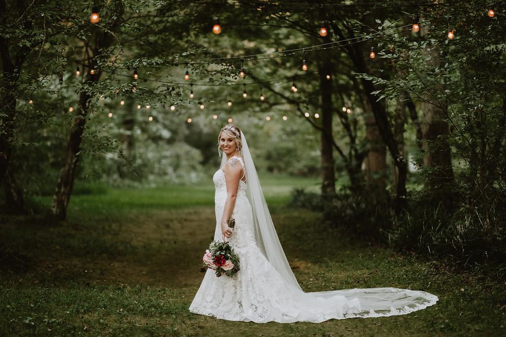 Bride in a magical fairytale garden
