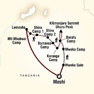 Mount Kilimanjaro Lemosho Elevation