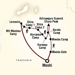 Mount Kilimanjaro Lemosho Elevation