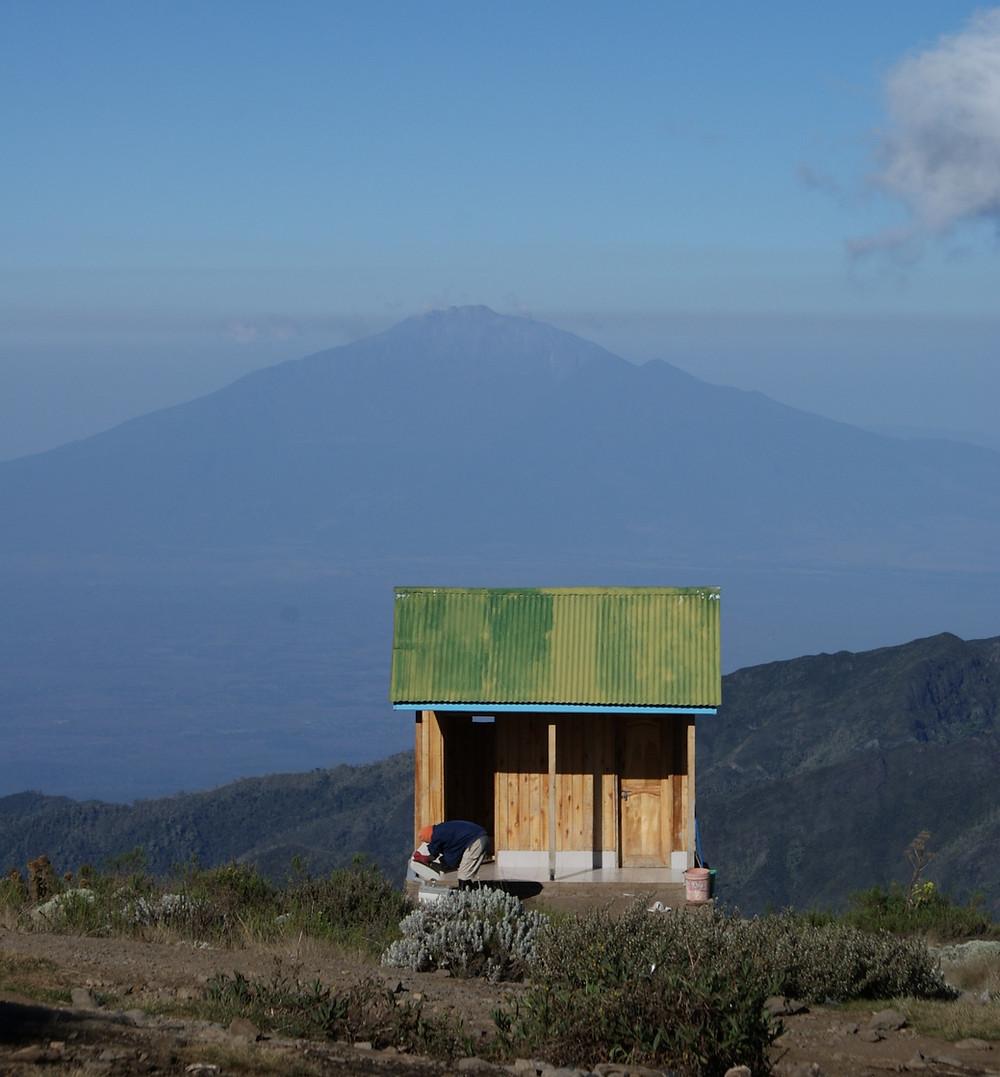 Kilimanjaro long drop toilet at Shira Camp