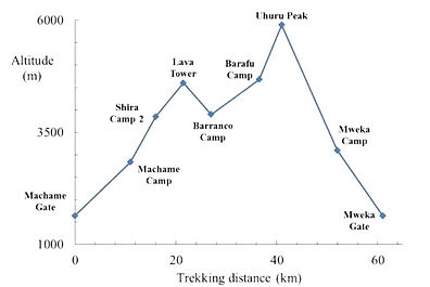 Mount Kilimanjaro Machame Elevation
