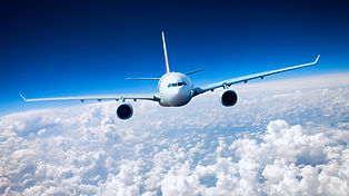 Plane flying to Moshi Tanzania
