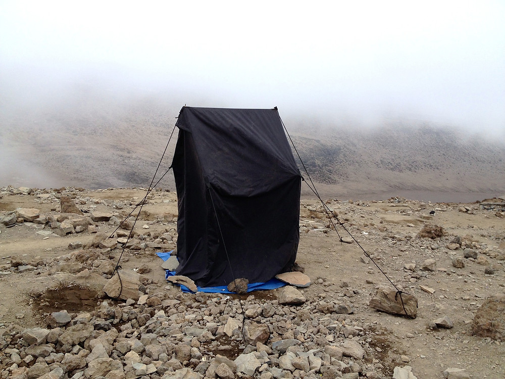 The kind of private toilet tent used on Mt. Kilimanjaro