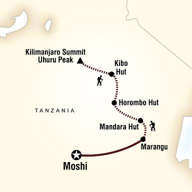 Marangu Route Map